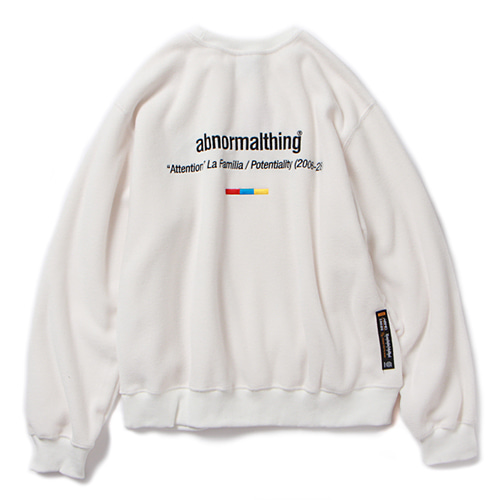 ABNORMAL FLEECE CREWNECK (WHITE)