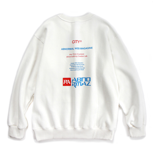 CITY CREWNECK (WHITE)